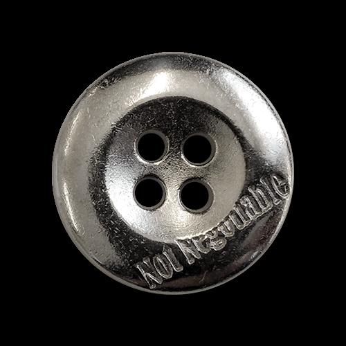 www.knopfparadies.de - 1690ch - Chromfarbene, kleine Metallknöpfe