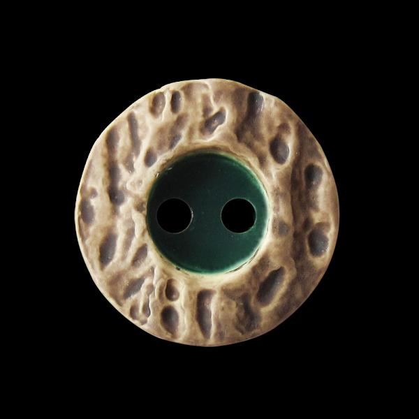 Zünftige kleine grün - naturfarbene Trachten Knöpfe in Hirschhorn Optik