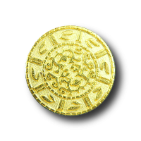 Interessante matt goldfarbene Knöpfe