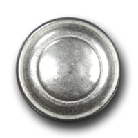 Matt weiß-silberfarbene, sehr edle Metallknöpfe