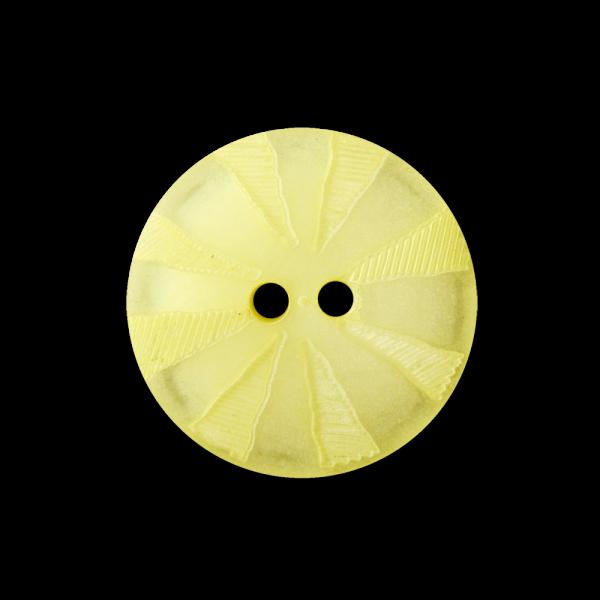 Gelb perlmuttartig schimmernder Knopf m. Strahlenkranz