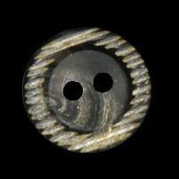 Schwarz grau brauner Kunststoff Knopf
