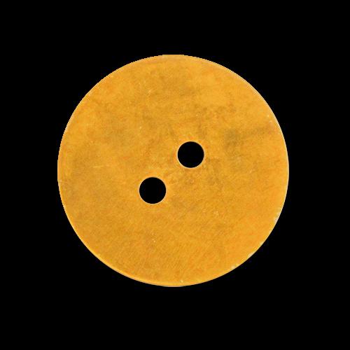 www.knopfparadies.de - 2387ge - Gelb eingefärbte Perlmuttknöpfe mit zwei Löchern