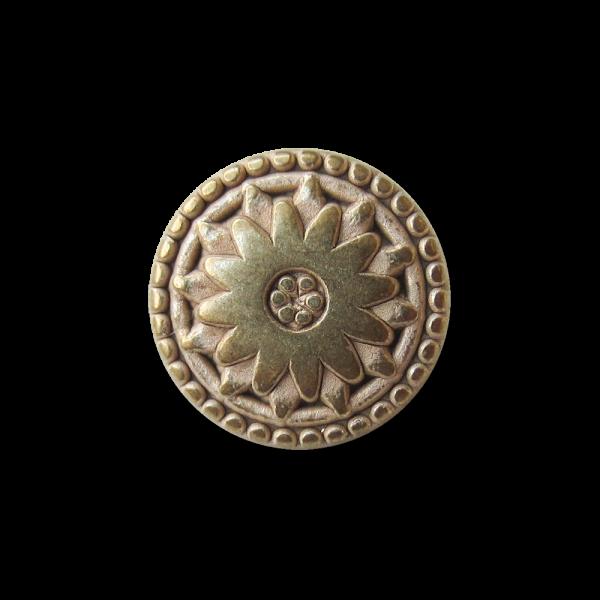 Kleiner Metallknopf mit Sonne oder Blume