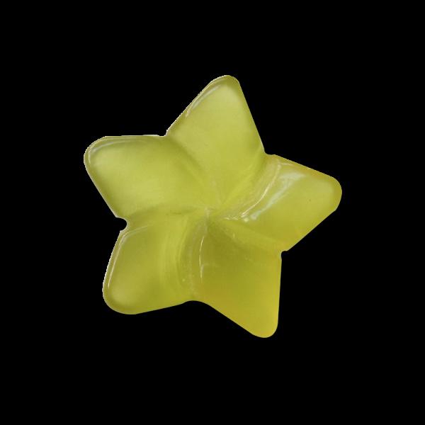 Hellgrüner Halbedelstein Karneol Blumen Knopf / Perle
