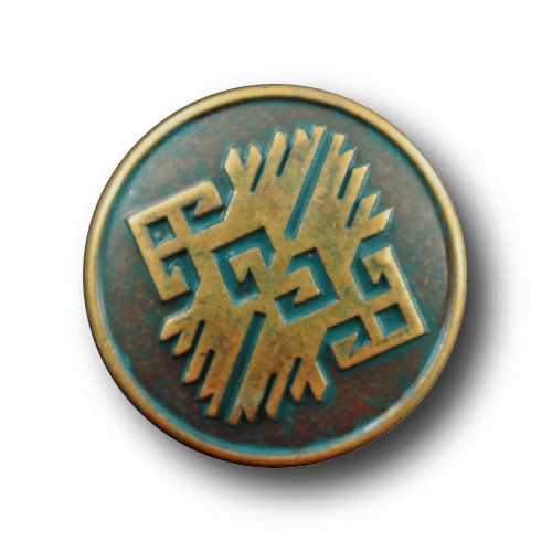 Messing-grünfarbener Metallknopf