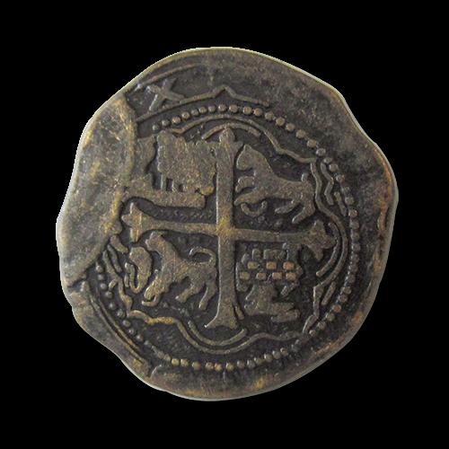 www.knopfparadies.de - 0070am - Metallknöpfe mit historischem Münzmotiv -