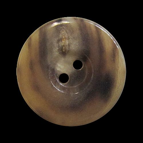 www.knopfparadies.de - 5978cc - Büffelhornknöpfe in vielen Brauntönen gemasert