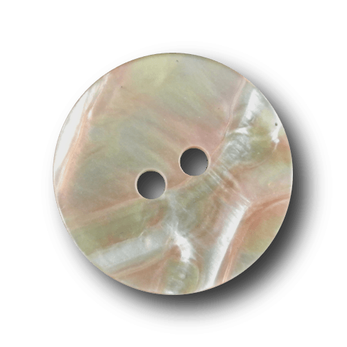 Toller rosa melierter Zweiloch Knopf in Perlmutt Optik