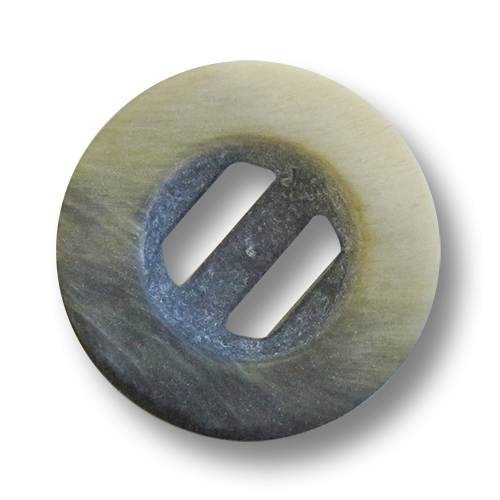 www.Knopfparadies.de - 4220gr - Beige schwarz graue  Schlitzknöpfe aus Kunststoff wie Büffelhornknöpfe
