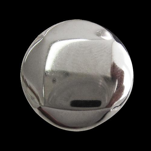 www.Knopfparadies.de - 5186si - Leichte silberne Metallblechknöpfe mit Viereck oder Raute