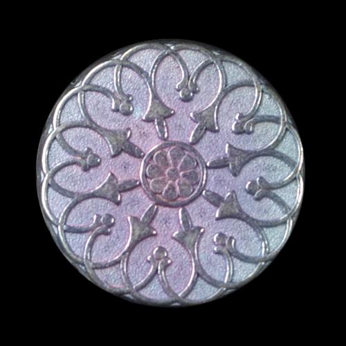 Märchenhaft rosa hellblau metallic changierender Knopf