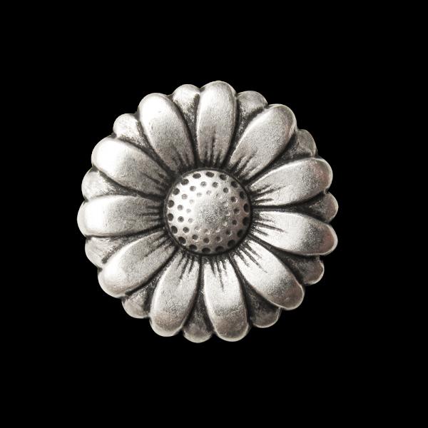 Traumhaft schöner Margeriten Blüten-Knopf aus Metall