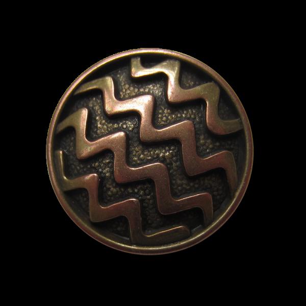 Metallknopf mit Öse in Zickzack-Design