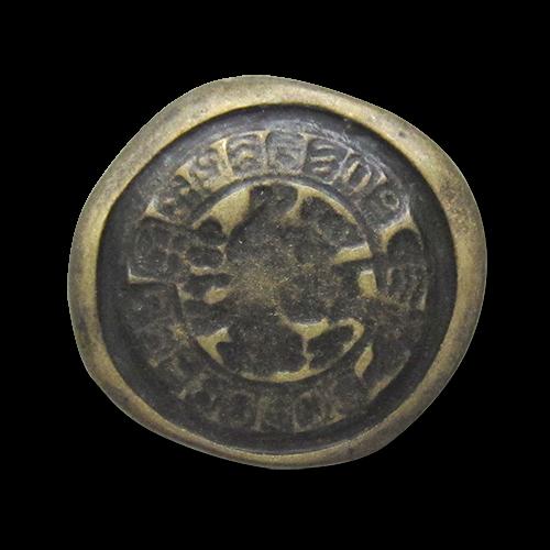 Alt wirkender Münz Knopf wie bei Ausgrabungen entdeckt