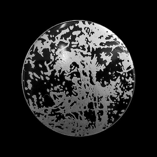 www.knopfparadies.de - 6162ss - Moderne Kunststoffknöpfe in schwarz und silber