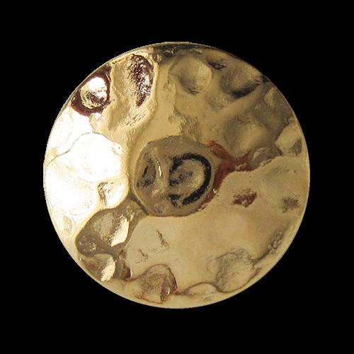 www.Knopfparadies.de - 0692gg - Älter wirkende glänzend goldfarbene Metallknöpfe wie aus dem Mittelalter