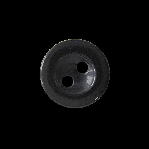 www.Knopfparadies.de - 5955sc - Kleine schwarz schimmernde Zweiloch Blusenknöpfe / Hemdknöpfe aus Kunststoff