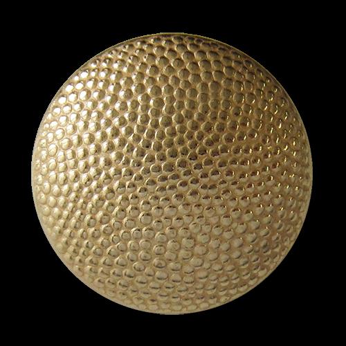 www.knopfparadies.de - 0147go - Gekörnte Uniformknöpfe aus goldfarbenem Metallbledch