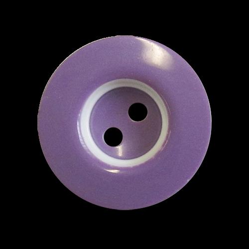www.knopfparadies.de - 6004li - Fröhliche Kunststoffknöpfe in lila und weiß