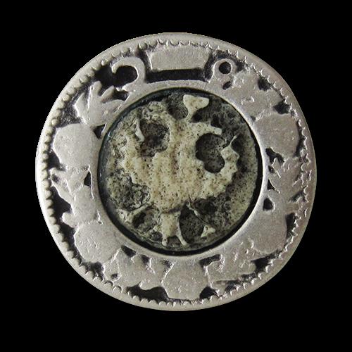 www.Knopfparadies.de - 1473as - Antik wirkende Trachtenknöpfe aus Metall mit Adler Motiv