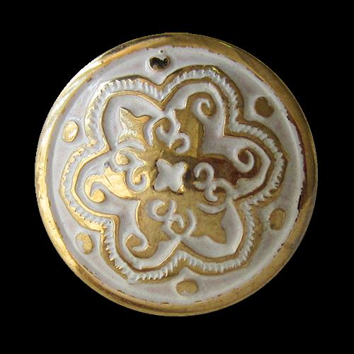 www.Knopfparadies.de - 1595wg - Wunderschöne Kunststoffknöpfe mit Ornament Muster