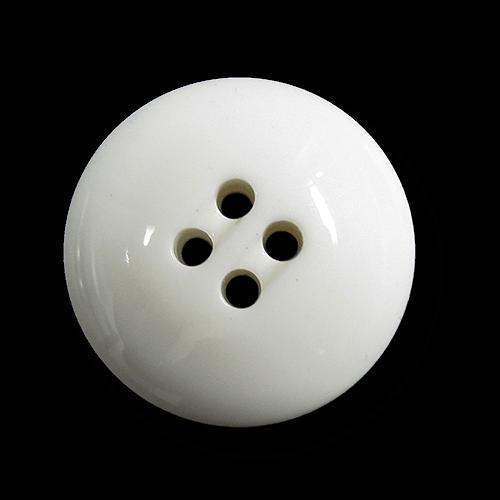 Massiver weißer Halbkugel Vierloch Kunststoff Knopf