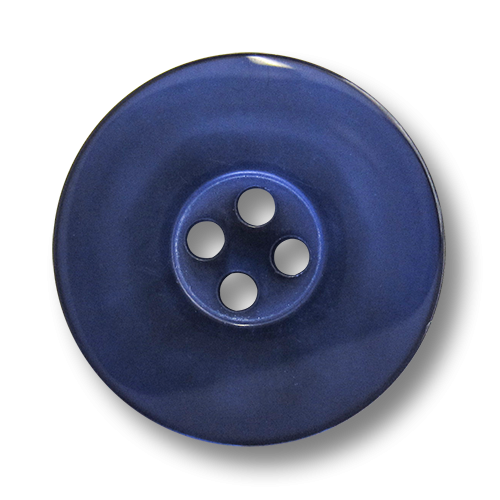 www.knopfparadies - 1488bl - Blaue Kunststoffknöpfe mit vier Löchern