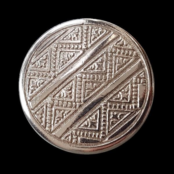 Metallknopf mit grafischem Muster