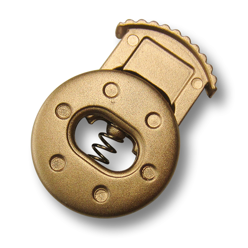 Matt goldfarbene Kordelstopper aus Kunststoff in elegantem Design