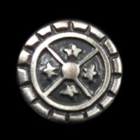 Metallknopf mit altertümlichem Muster