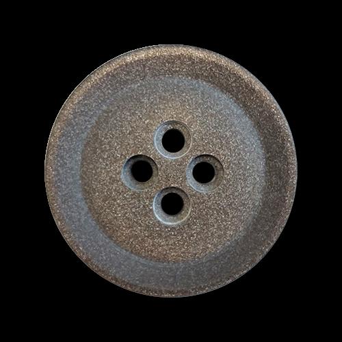www.knopfparadies.de - 6107br- Braun schimmernde Kunststoffknöpfe - günstigere B-Ware