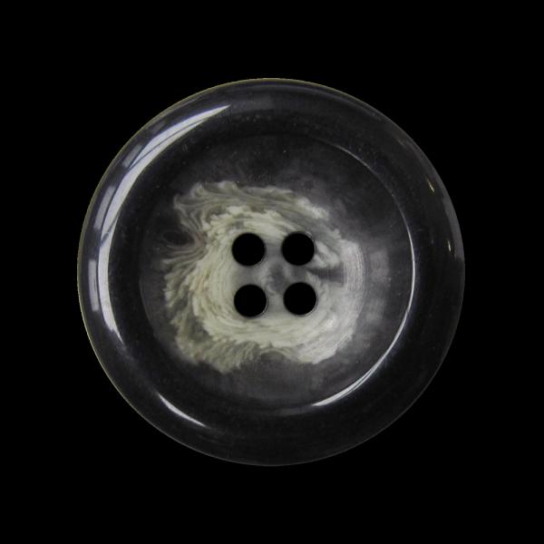 Schwarz beige melierter Vierloch Mantel Knopf