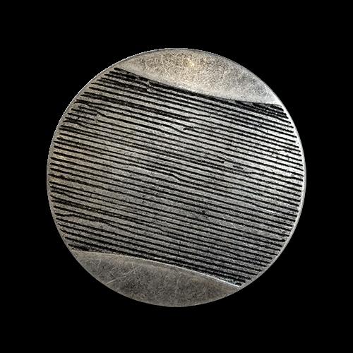 www.knopfparadies.de - 6116as - Altsilberfarbene Blazerknöpfe aus Metall