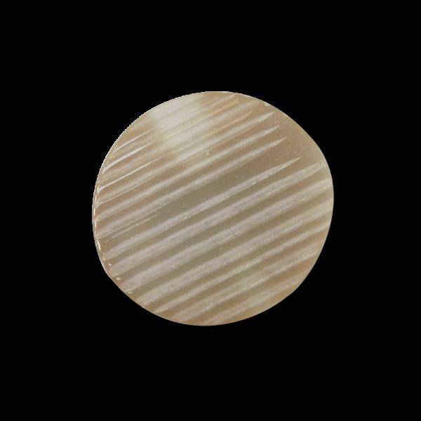 Kleiner perlmutt beige schraffierter Blusen Ösen Knopf
