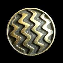 Altmessingfarbener Zick-Zack-Metallknopf