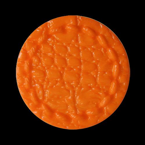 www.knopdparadies.de - 1680or - Orangefarbene Kunststoffknöpfe fast wie aus Leder