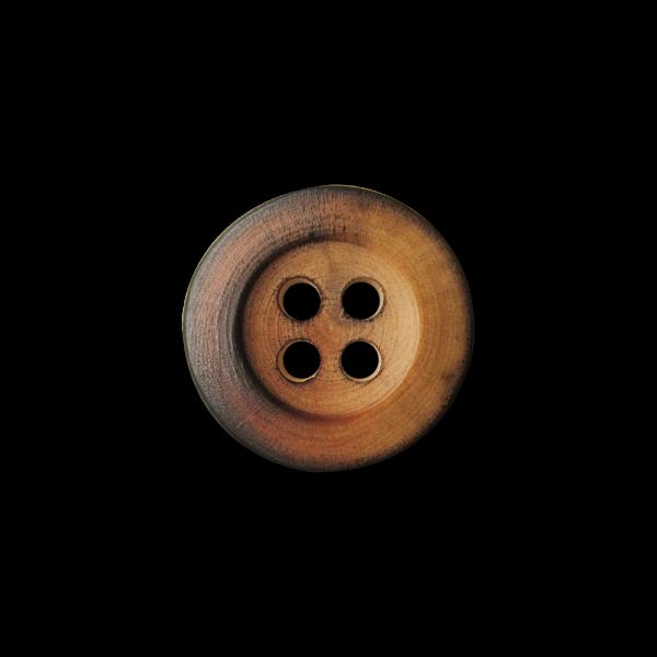 Schlichte Vierloch Holz Knöpfe in Brandoptik