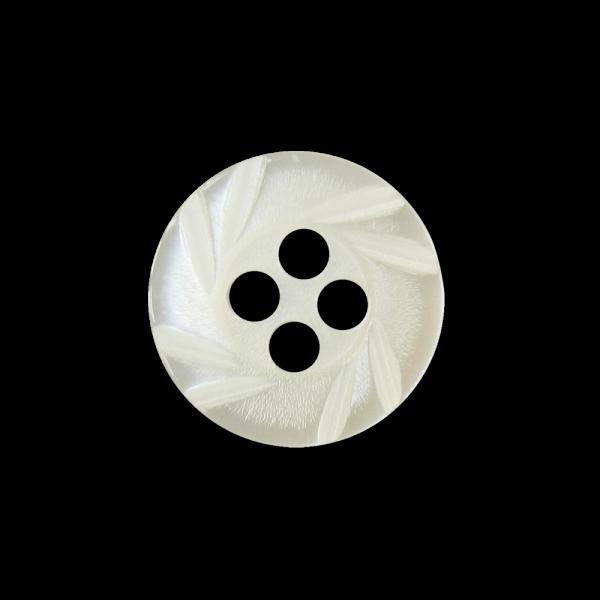 Kleiner weißer Vierloch Blusen Knopf in Perlmutt Optik