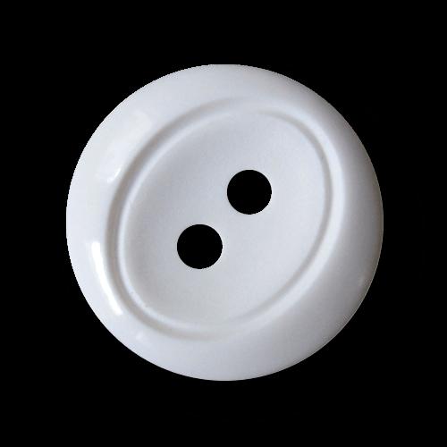 Schicker weißer Zweiloch Knopf aus Kunststoff