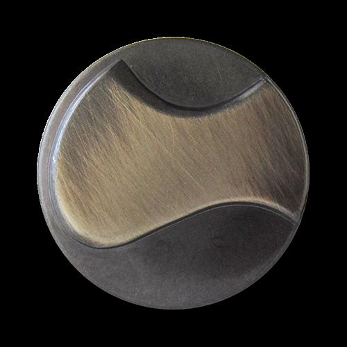www.Knopfparadies.de - 1562es - Leichte moderne eisen silberfarbene Ösen Metallblechknöpfe