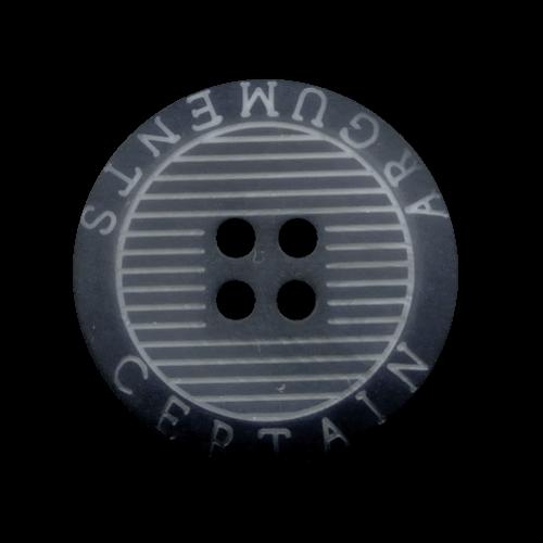 Schwarz-blauer 4-Loch-Knopf