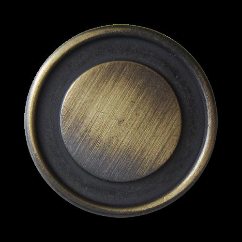www.Knopfparadies.de - 1537me - Ausgefallene eisen- und messingfarbene Metallknöpfe mit Öse