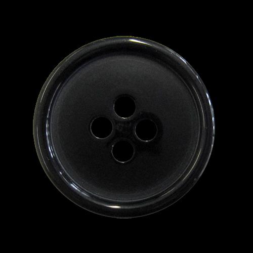 www.knopfparadies.de - 1522sc - Günstige Kunststoffknöpfe in schwarz
