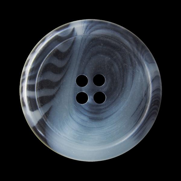 Klassische, blau melierte 4-Loch-Knöpfe