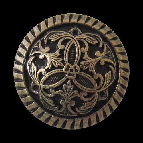 Besonders edle messingfarbene Metallknöpfe mit filigranem Muster