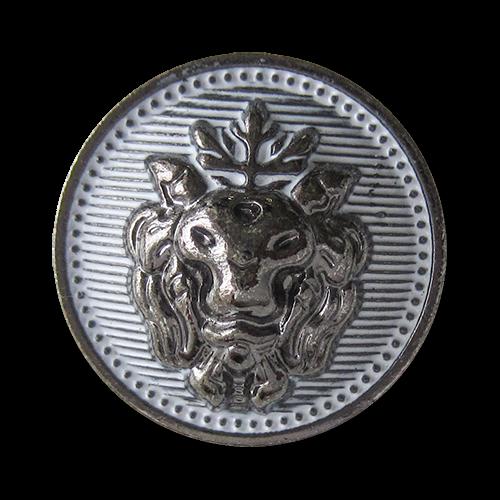 www.Knopfparadies.de - 1527cw - Extravagante Metallknöpfe mit Löwen Motiv