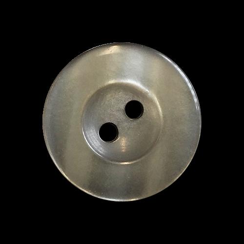 www.knopfparadies.de - 6030dg - Dunkelgrün bis grau schimmernde Kunststoffknöpfe mit breitem Rand