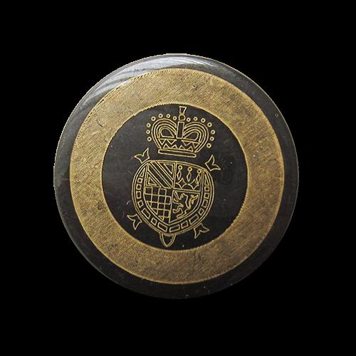 www.Knopfparadies.de - 4157eg - Edle Metallknöpfe mit Wappen & Krone
