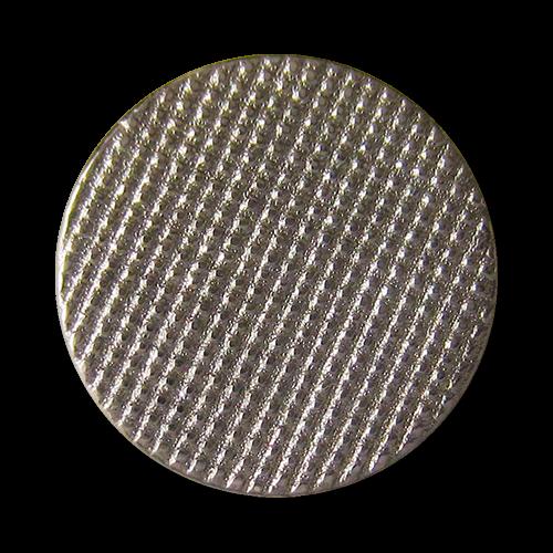 www.Knopfparadies.de - 3013ch - Metallknöpfe in Chromfarben mit filigraner Waffel Struktur